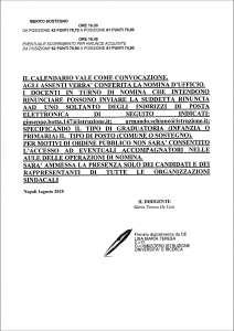 Calendario Del Tempo Scuola Infanzia.Calendario Immissioni In Ruolo Infanzia E Primaria